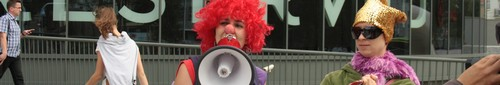 """kielce wiadomości Wjazd """"tylko dla pań"""" – happening przeciw dyskryminacji - zdję"""