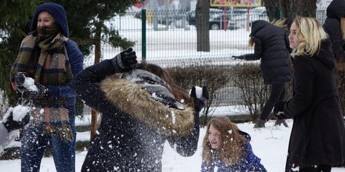 kielce wiadomości Śnieżna bitwa w Żeromskim (ZDJĘCIA,WIDEO)