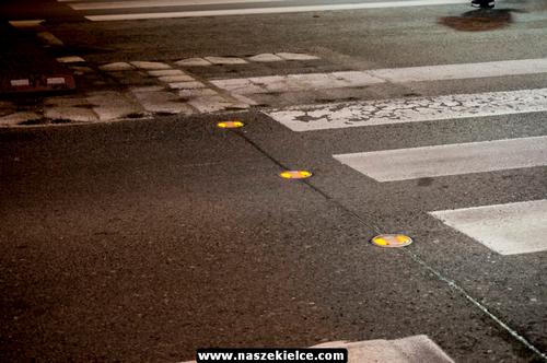 kielce wiadomości Pierwsze inteligentne przejście dla pieszych już działa (ZDJĘCIA,WIDEO)