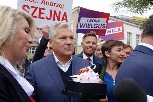 kielce wiadomości Aleksander Kwaśniewski w Kielcach namawiał do głosowania na lewicę