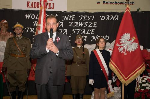 kielce wiadomości I Kompania Kadrowa patronem Zespołu Placówek Oświatowych w Bolechowicach (ZDJĘCIA)