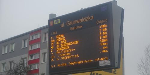 kielce wiadomości Nowe tablice na kieleckich przystankach autobusowych