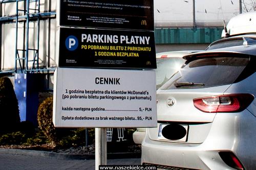 kielce wiadomości Prawie 100 zł za parkowanie przy McDonaldzie na Żyniej (ZDJĘCIA)
