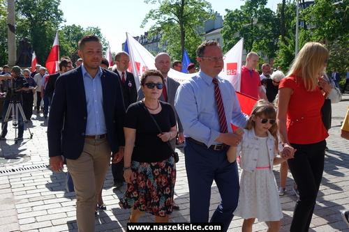 kielce wiadomości Lewica maszerowała przez centrum Kielc (ZDJĘCIA,WIDEO)