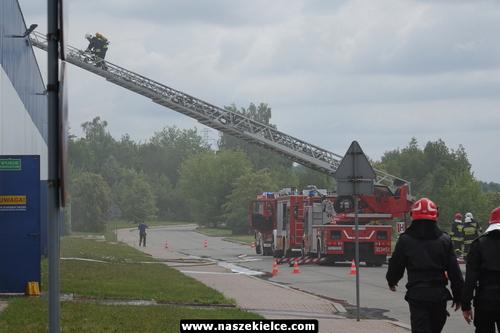 kielce wiadomości Strażacy gasili dach marketu na Radomskiej (ZDJĘCIA,WIDEO)