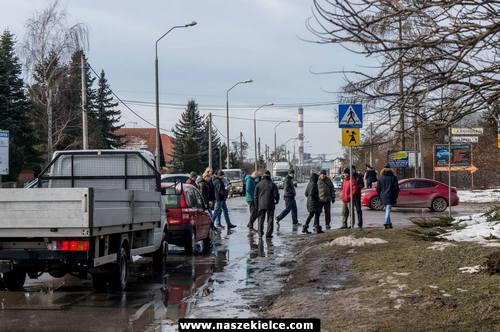 kielce wiadomości Blokowali ulicę Witosa. Mieszkańcy domagają się zmian projektu (ZDJĘCIA,WIDEO)