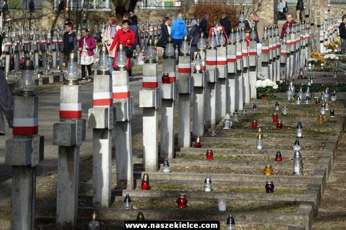 kielce wiadomości Kielczanie odwiedzali groby bliskich (ZDJĘCIA)