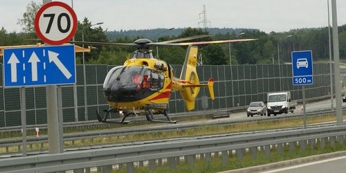 kielce wiadomości Dwa wypadki na s7 pod Kielcami. Rannych zabrało lotnicze pogot