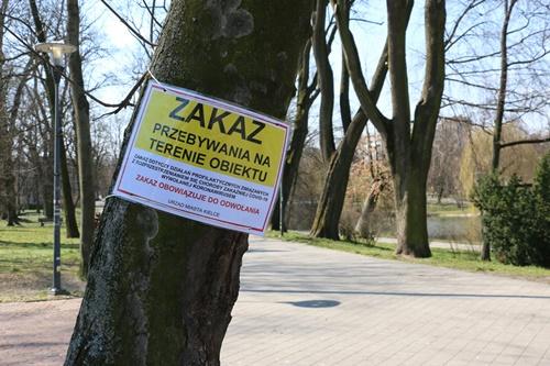 kielce wiadomości Epidemia koronawirusa zamknęła parki