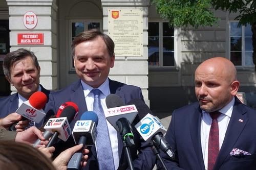 kielce wiadomości Minister Zbigniew Ziobro odwiedził Kielce