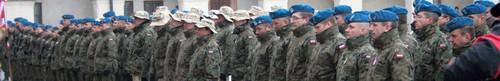 Ostatnia XIII zmiana żołnierzy CIMIC pożegnana przed wyjazdem do Afganistanu - z