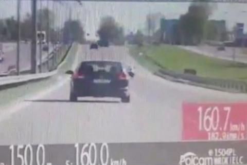 kielce wiadomości Z trójką dzieci gnała 160 km/h