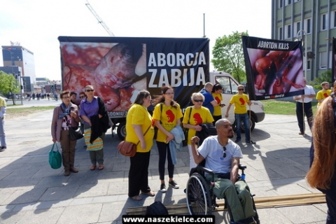 kielce wiadomości Profesor Chazan pretekstem do starcia zwolenników i przeciwników aborcji (ZDJĘCIA,WIDEO)