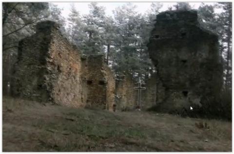 kielce wiadomości Tajemnicze ruiny kościoła na wzgórzu. Zwiedzaj bez wychodzenia z domu (WIDEO)